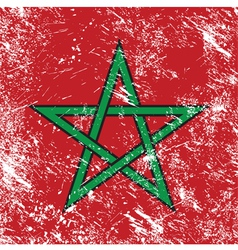 Morocco retro flag vector