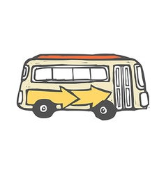 A bus is parked vector image vector image