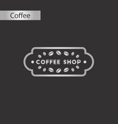 black and white style icon of coffee shop logo vector image vector image