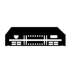 Black icon modem cartoon vector