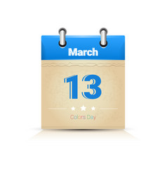 Calendar page happy holi religious india holiday vector