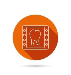 Dental x-ray icon orthodontic roentgen sign vector