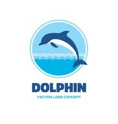 Dolphin - logo concept vector
