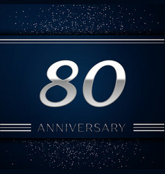 Eighty years anniversary celebration logotype vector