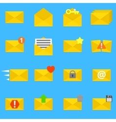 Envelope icons set vector image