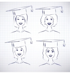 Female students vector