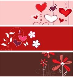 floral heart designs vector image