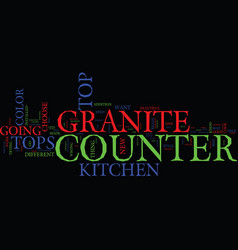 Granite counter tops parti text background word vector