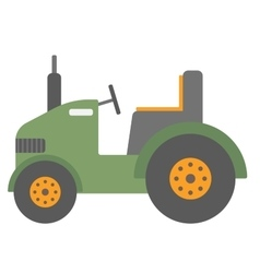 Green agricultural machinery vector
