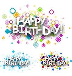 Happy birthday colour backgrounds vector image