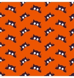 Happy Halloween Background Seamless pattern vector image