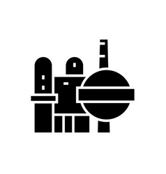 industry - oil refinery icon vector image vector image