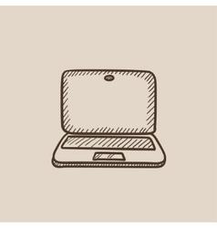 Laptop sketch icon vector image vector image