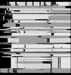 Monochrome glitch art background vector