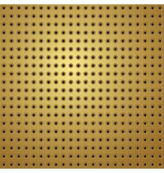 perforated gold vector image vector image