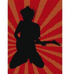 rock star poster vector image