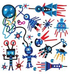 Space doodles vector