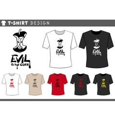 T shirt design with core vector