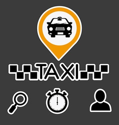 Taxi design vector image vector image