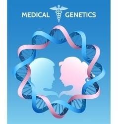 The Medicine Genetics vector image vector image