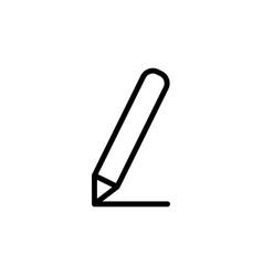 thin line pencil icon vector image vector image
