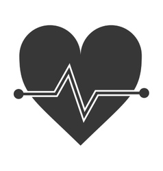 Heart cardio healthy lifestyle gym design vector