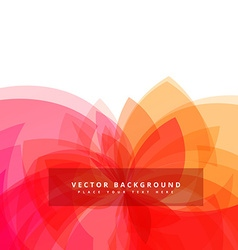 Colorful transparent flower style background vector