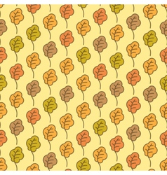 Funny autumn oak leaves seamless pattern vector