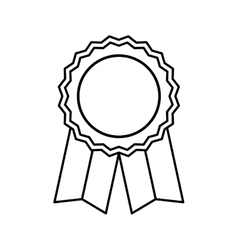 Medal award ribbon vector