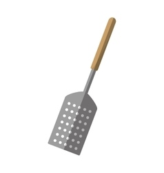 Grill spatula kitchen and cooking utensils shadow vector