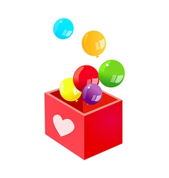 Icon balloon and box vector
