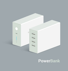 Powerbank icon on white background vector