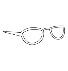 glasses accessory female style outline vector image