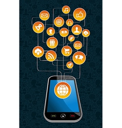 Global social media mobility vector