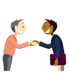 business mans handshake greetings gesture stick vector image