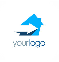 House arrow logo vector