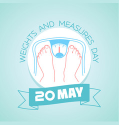 20 may weights and measures day vector