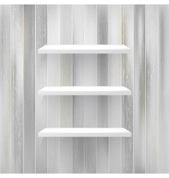 Wood shelf on wood background  EPS10 vector image