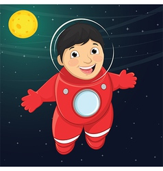 Of a young boy astronaut float vector