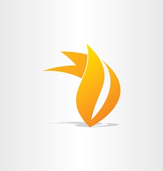 Fire burn symbol design vector