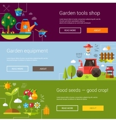 Set of modern flat design farm and agriculture vector