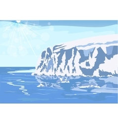 Antarctic iceberg in the snow vector