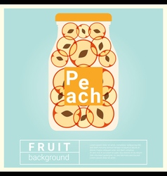 Infused water fruit recipe with peach vector
