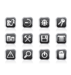 Programming and application icons vector