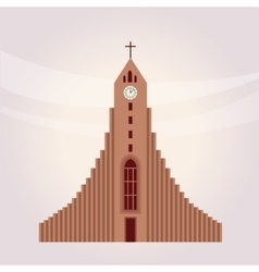Modern protestant church building vector