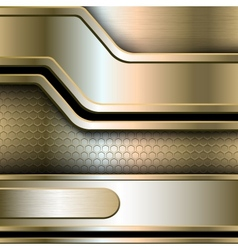 Abstract background metallic banners vector