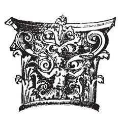 Antic ornaments vintage engraving vector