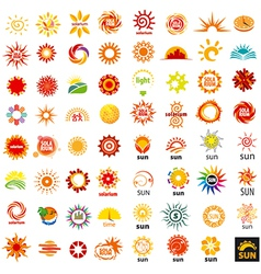 big set of logos sun vector image vector image