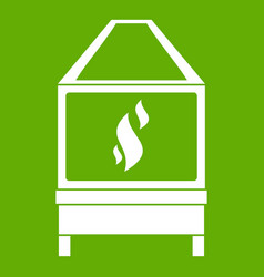 Blacksmith icon green vector
