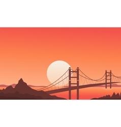 Bridge beautiful nature vector